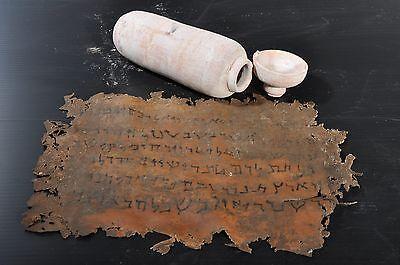 Biblical Ancient Antique Treasures Jug Holy Land Jewish Dead Sea Scroll Jar