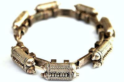 Antique .800 Silver Handmade 7 Capsules Filigree Bedouin Bracelet 3