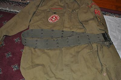 Vintage Boy Scout Uniform Shirt Cap Scarf Patches La Grange ILL 1950's