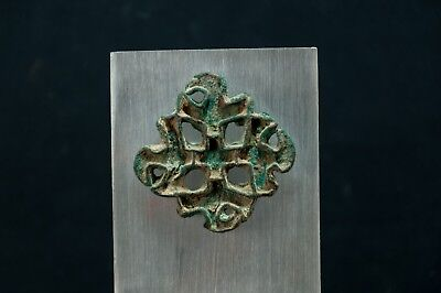 Bactrian Copper Alloy Lobed Openwork Stamp Seal w. Corrugated Edges 2600-2100 BC 2