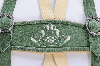 d16de95ff308 3 von 7 Trachten Lederhose Damen knielang Craker grün Echt Leder Vintage  Look Gr.34-42