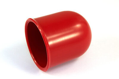 50mm Red Tow Bar Cover Cap Towing Hitch Car Caravan Trailer Towball Protector 2