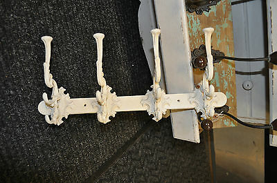 Cast Iron Hooks Cream vintage white coat hooks