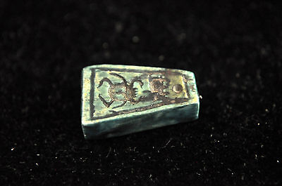Ancient Egypt New Kingdom Steatite Amulet Seal Bead 3