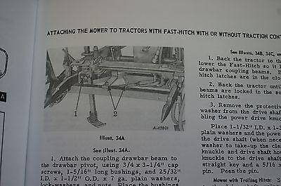 IH MCCORMICK FARMALL No  31 Sickle Bar Mower Owner's Manual Drawbar Crazy  Wheel