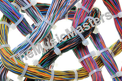 """10 White 24"""" inch Wire Cable Zip Ties Nylon Tie Wraps 175lb USA Made Tiger Ties 7"""
