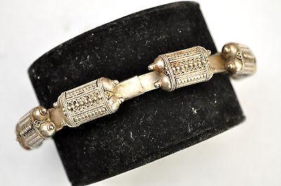 Antique .800 Silver Handmade 7 Capsules Filigree Bedouin Bracelet 7