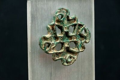 Bactrian Copper Alloy Lobed Openwork Stamp Seal w. Corrugated Edges 2600-2100 BC 4