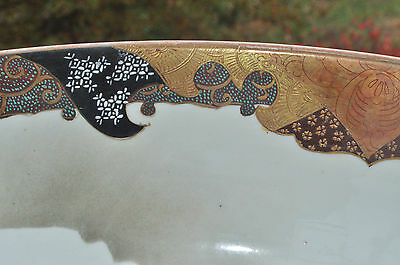 Superb Set of 3 Large Kutani Graduated Porcelain Bowls Hand Painted Meiji Period 10