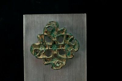 Bactrian Copper Alloy Lobed Openwork Stamp Seal w. Corrugated Edges 2600-2100 BC 9