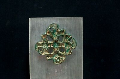 Bactrian Copper Alloy Lobed Openwork Stamp Seal w. Corrugated Edges 2600-2100 BC 6
