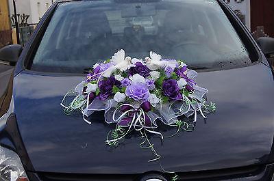 Autodeko Braut Auto Deko Blumen Tauben Hochzeitauto Kunstblumen