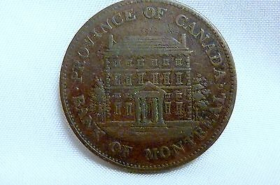 1844 Bank Of Montreal 1/2 Penny Circulated, Ungraded Free Shipping  I-1324