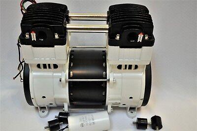 Twin Piston Oilless Vacuum Pump Push/Pul 10CFM Science Medic/Dental Lab Workshop 5
