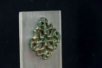 Bactrian Copper Alloy Lobed Openwork Stamp Seal w. Corrugated Edges 2600-2100 BC 8
