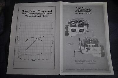 Ca 1920 Waukesha High Torque Motors Model F. U. Brochure 3