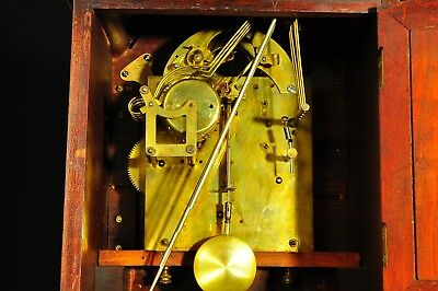 Antique German Junghans 8 Day Bracket Clock with Westminster Chime approx. 1910 6