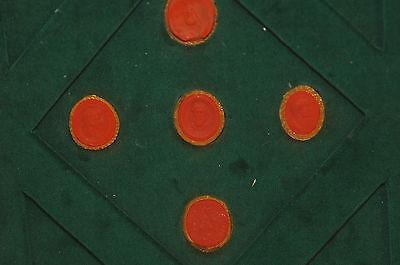 Lot of 5 Ancient Wax Seals
