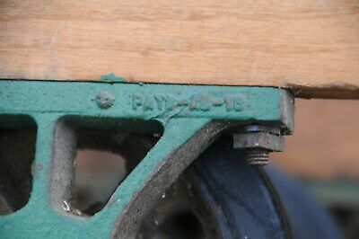 Antique wooden dolly hand truck cast iron primitive 1920 Jakes Foundry Nashville 7