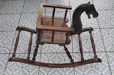 2 Of 4 Vintage Childs Wooden Horse Rocking Chair