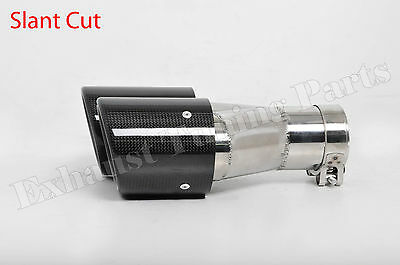 Exhaust tips quad tailpipe dual PAIR carbon Mercedes AMG Golf 7 R BMW M Style