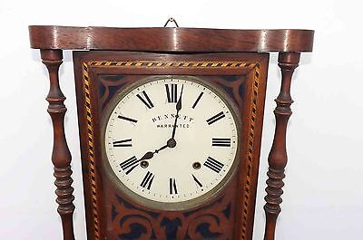 antique wall clock rosewood & inlaid case 4