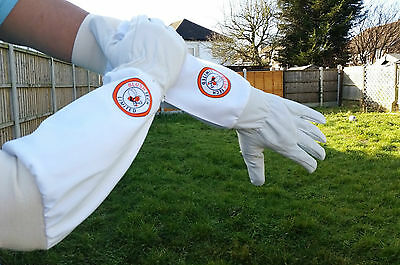 Beekeeper Bee Gloves Beekeeping gloves Goat skin Leather & 100% Cotton LARGE 4