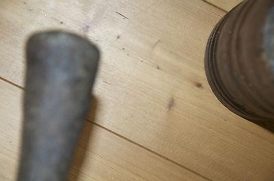 Antiker uralter Mörser Holz mit sehr schwerem EisenKlöppel  !!!RARITÄT!!!! 9