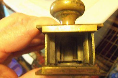 Antique Vtg Brass Door Knob With Brass Plates 5