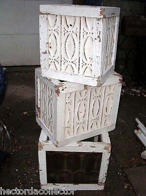 SALE Primitive Antique Ceiling Tin Tile Bird House Hand Tooled USA Chic Fleur De