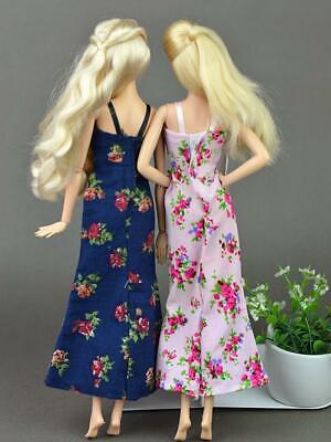 2pcs/set Fashion Clothes For Barbie Doll Dress Pajamas Lace Lingerie Sleepwear 11