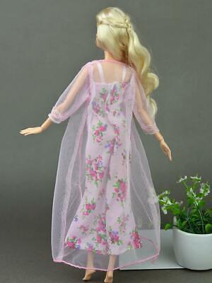 2pcs/set Fashion Clothes For Barbie Doll Dress Pajamas Lace Lingerie Sleepwear 10
