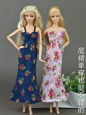 2pcs/set Fashion Clothes For Barbie Doll Dress Pajamas Lace Lingerie Sleepwear 6
