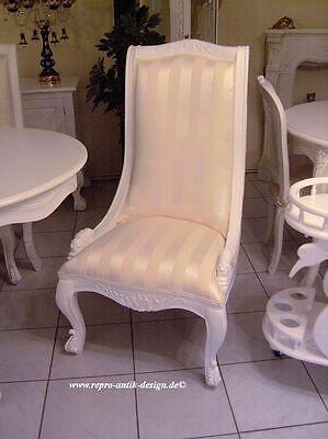 Stuhl Esszimmer esszimmer garnitur gruppe klassisch stuhl sessel tisch weiß barock