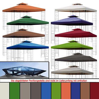 Pavillondach WASSERDICHT 310g/m² (Option) ERSATZDACH wasserfest PVC knapp ~ 3x3m 6