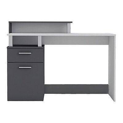 Schreibtisch Office 890 Weiss Grau Computertisch Pc Tisch