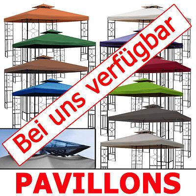 Pavillondach WASSERDICHT 310g/m² (Option) ERSATZDACH wasserfest PVC knapp ~ 3x3m 9