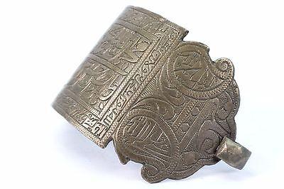 Antique Ottoman Indo Islamic Hand Calligraphy Brass Armlet Collectible.G3-54 4