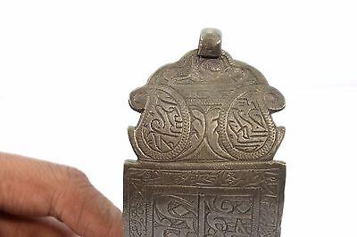 Antique Ottoman Indo Islamic Hand Calligraphy Brass Armlet Collectible.G3-54 10