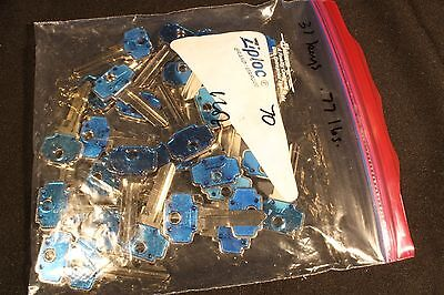 BLUE  ColorPlus  #70 KEY BLANKS Lot of 33 AXXESS Nickel plated Brass.