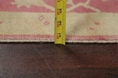 Antique Look PINK Oushak Egyptian All-Over Rug Vegetable Dye Hand-Knotted 3'x5' 11
