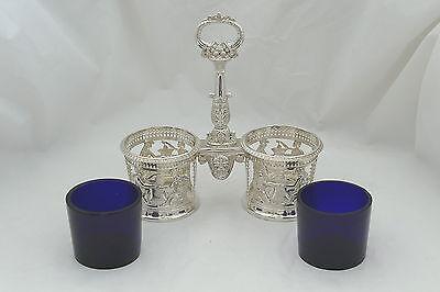 Rare French Silver Double Table Salt Paris 1793 6