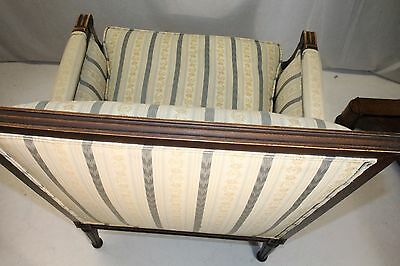 Elegant French Louis XV style Beech Wood Bergere Armchair With Down Cushion 11