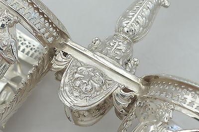 Rare French Silver Double Table Salt Paris 1793 9