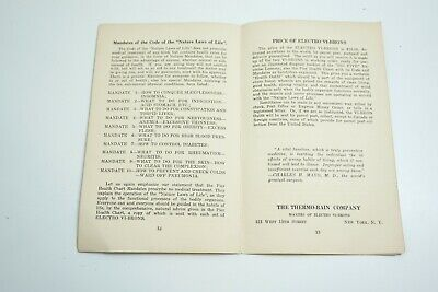 Antique 1890'S Thermo-Bain Co The Big Five Electro Vibration Quack Medicine Book 7