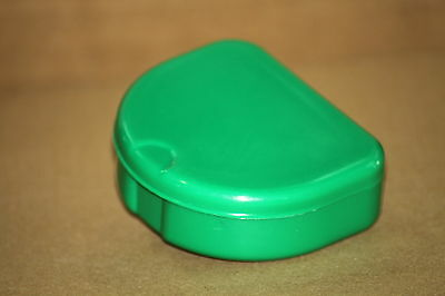100 Green Denture Retainer Box Orthodontic Dental Case Mouth Ortho Brace Teeth..