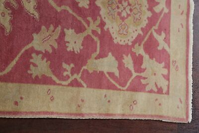 Antique Look PINK Oushak Egyptian All-Over Rug Vegetable Dye Hand-Knotted 3'x5' 6