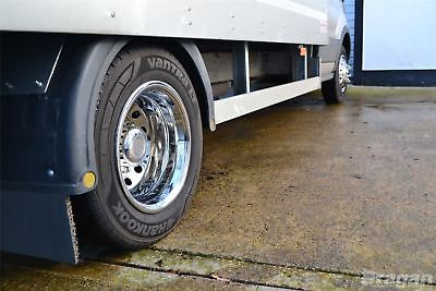 """To Fit 14+ Ford Transit MK8 Luton Body Minibus 16"""" Dual Wheel Trims Cover Sleeve 2"""