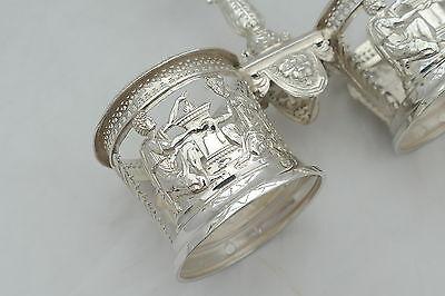 Rare French Silver Double Table Salt Paris 1793 11