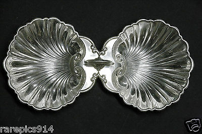 Vintage Sterling Silver Clamshell Serving Tray
